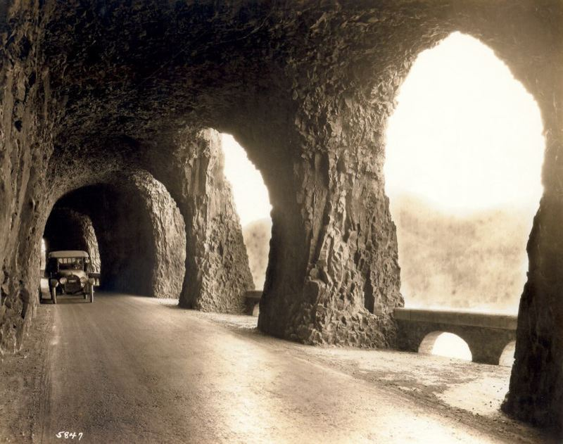 PMG FILE PHOTO - The original Mitchell Point Tunnel was famous for its windows.