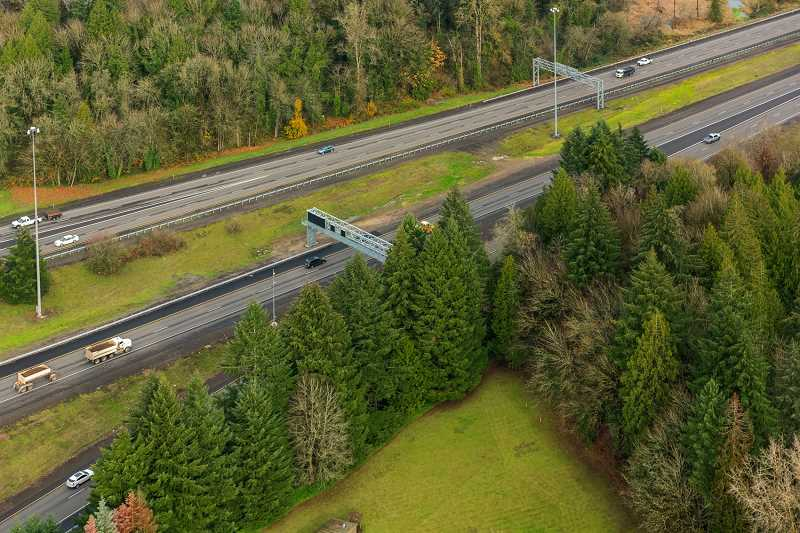 COURTESY PHOTO: ODOT - This stretch of Interstate 205 is within the area of study for the proposed tolling project.