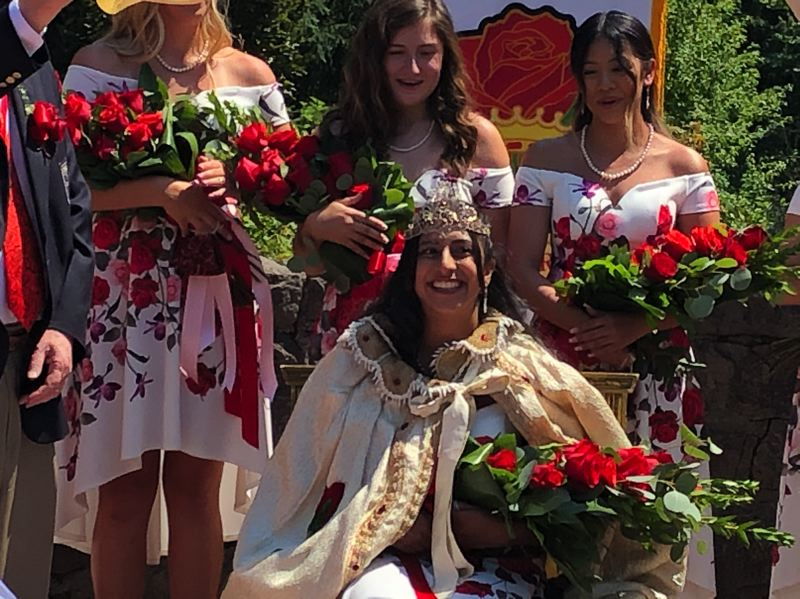 COURTESY PHOTO: ROSE FESTIVAL - Anya Anand of Lincoln High School was crowned the 2020 Rose Festival queen at the Queen's Coronation in Washington Park. The 2021 queen will be announced at Washington Park on June 18.