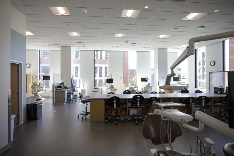 PMG PHOTO: JONATHAN HOUSE - The dental clinic at PSU's new Vanport Building.
