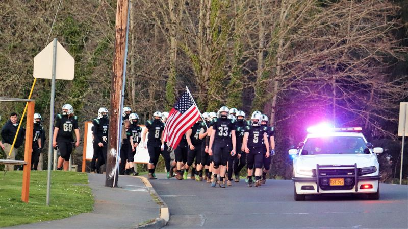 COURTESY PHOTO: ESTACADA FOOTBALL - Estacada football ended their season on a win after narrowly defeating 5A Lebanon.