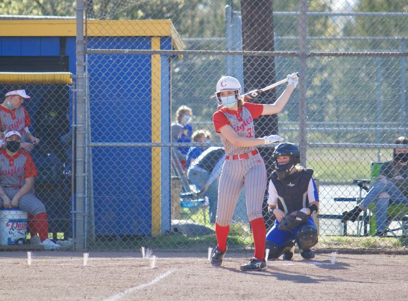 PMG PHOTO: CHRISTOPHER KEIZUR - Centennial senior Naomi Maldonado steps up to the plate.