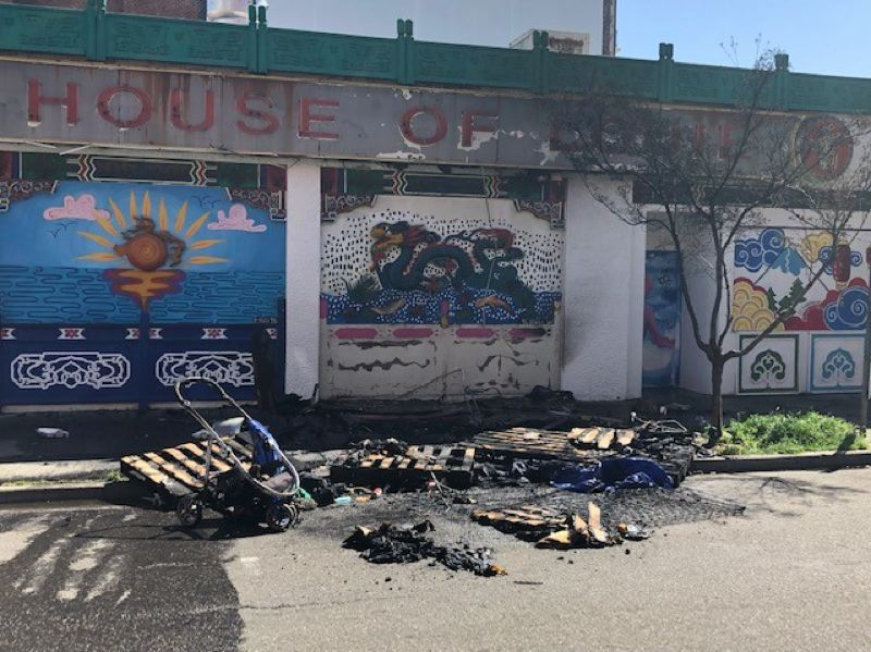 COURTEST PHOTO: PPB - The scene of the Saturday arson in Old Town.