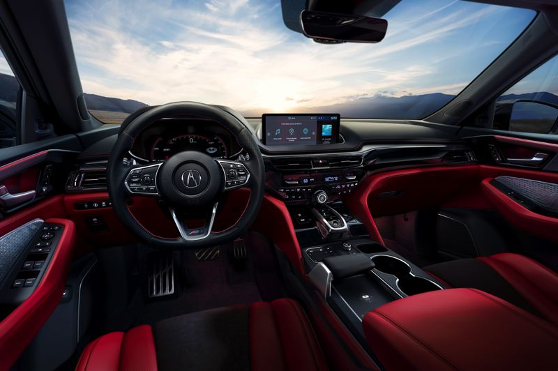 COURTESY ACURA - The interior of the 2020 Acura MDX is now stunning, especially the A-Spec version shown here.