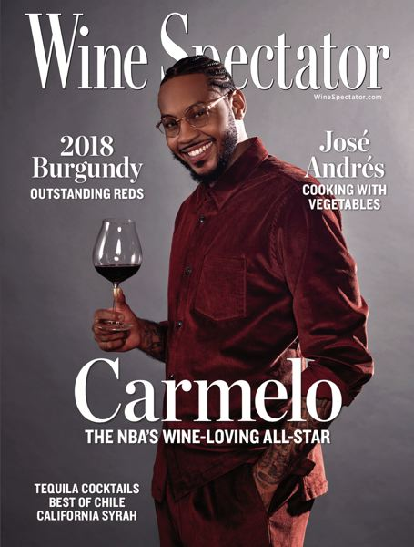 COURTESY PHOTO - The Trail Blazers' Carmelo Anthony gets the cover treatment in Wine Spectator