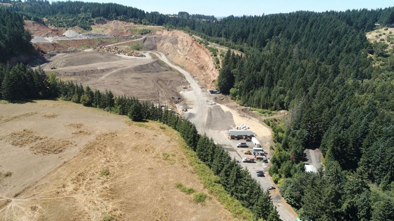 PMG FILE PHOTO: - An aerial photo of Westside Rock Hayden Quarry.