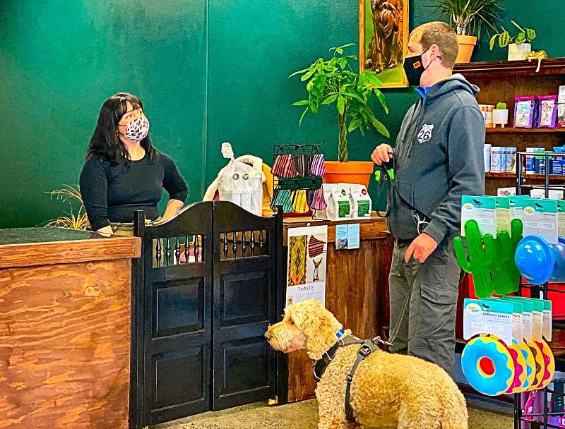 PAIGE WALLACE - Owner Emily Elpusan warmly welcomes canine and human customers (and feline ones too) to her new pet supply store, The Headstrong Hound, at 6544 S.E. Foster Road.