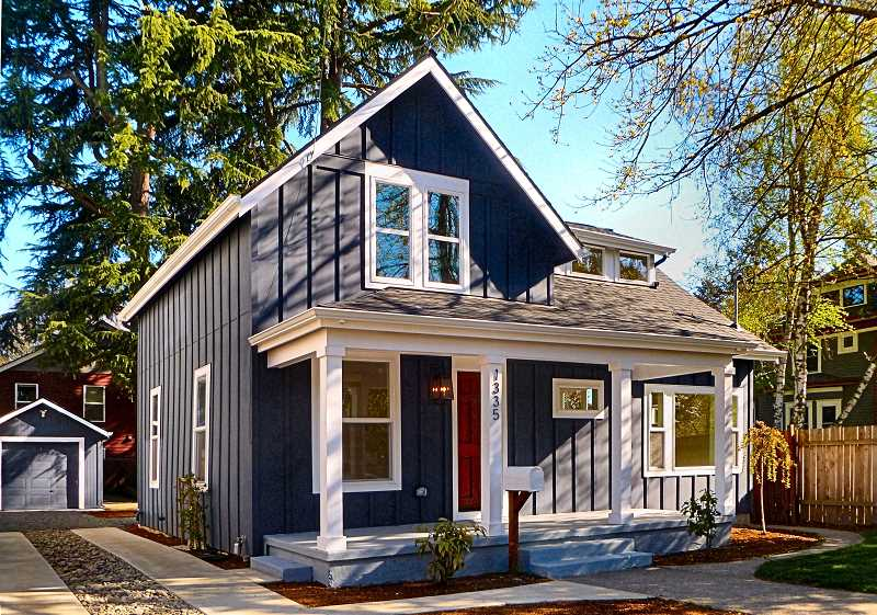 EILEEN G. FITZSIMONS - This modest house on S.E. Lambert Street near 13th Avenue in Sellwood was rehabilitated, and gained an additional 750 square feet of living space invisible from the street.
