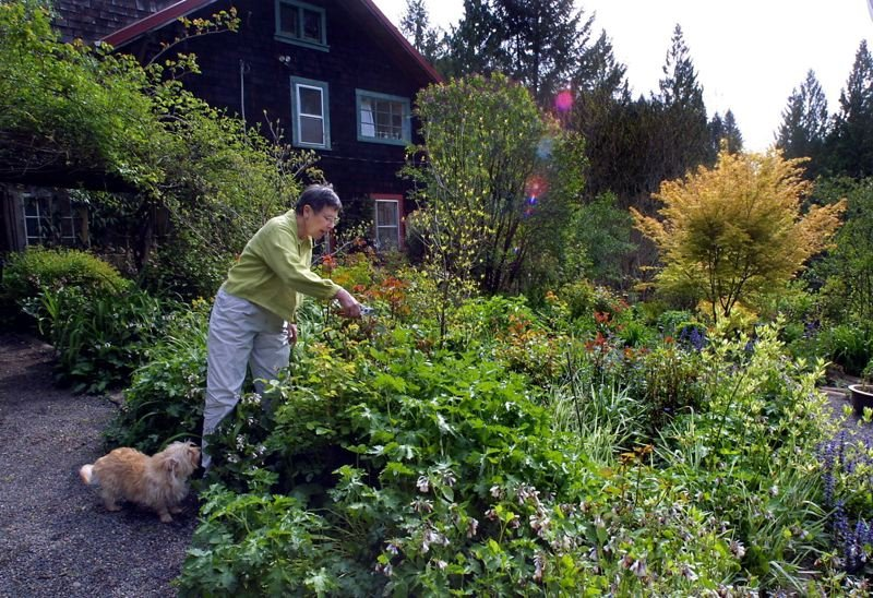 PMG FILE PHOTO - Former Congresswoman Elizabeth Furse and her garden were featured as part of a 2003 Garden Conservancy Tour.