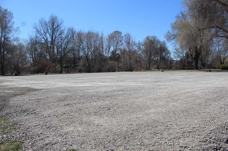 JASON CHANEY - The asphalt and basketball hoops at Ochoco Creek Park have been removed and are slated for replacement in the near future as part of a major upgrade.