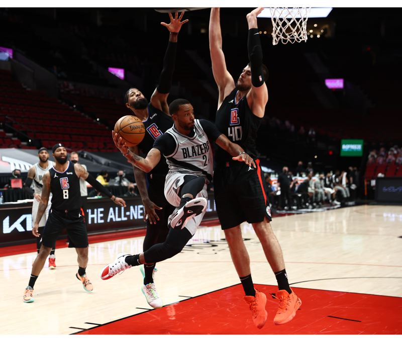 COURTESY PHOTO:  - Norman Powell and the Trail Blazers played a solid game, but the L.A. Clippers and Paul George beat them, 113-112.