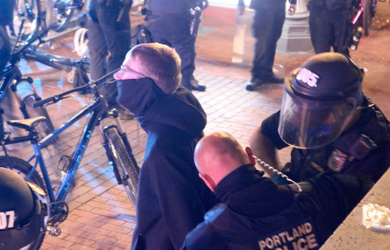 PMG PHOTO: ZANE SPARLING - A 24-year-old was charged with first-degree criminal mischief after Portland Police accused him of shattering the windows of a Starbucks coffee shop on April 20.
