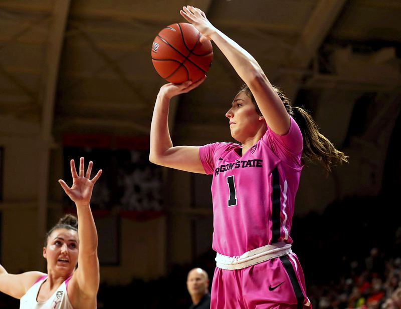 PMG FILE PHOTO - Former La Salle Prep and Oregon State University star Aleah Goodman was selcted in the third round of the WNBA draft by the Connecticut Sun on Thursday, April 15.