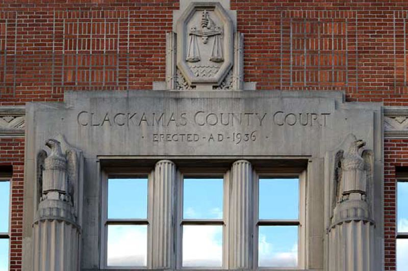 FILE PHOTO - The Clackamas County Courthouse in Oregon City has become increasingly deficient in terms of capacity and safety, prompting the question before the board of county commissioners whether to replace it or not.