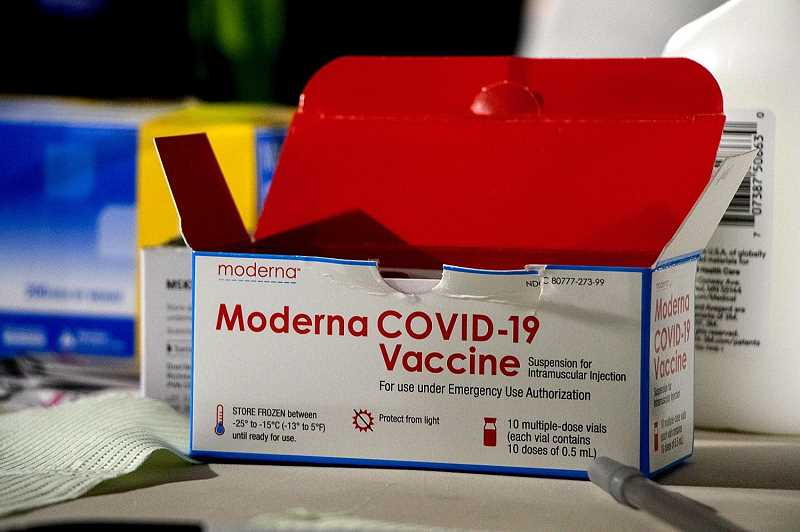 PMG FILE PHOTO - The Moderna COVID-19 vaccine is one of now two vaccines being administered in the state of Oregon. People ages 16 and older are eligible for the vaccine as of Monday, April 19.