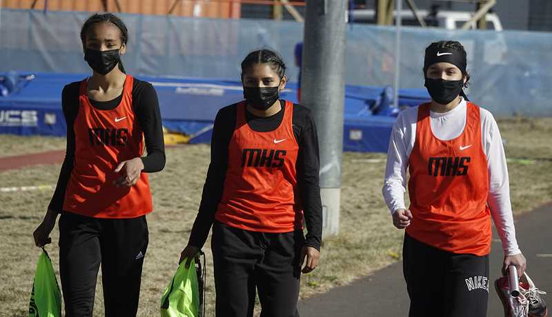 COURTESY PHOTO - The Molalla track team took the measure of Corbett in Wednesday's dual meet.
