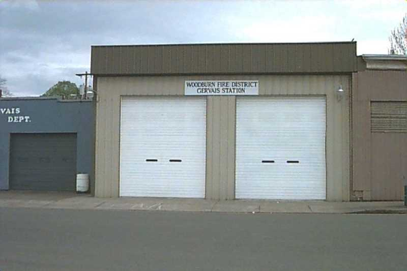 COURTESY PHOTO: WOODBURN FIRE DISTRICT - Former Gervais Fire Station on 4th Ave., near City Hall. Gervais joined the Woodburn Fire District in 1986. The fire district operated Station 23 in Gervais until 2007 when it was closed due to the lack of available volunteers and the need for considerable structural repairs.