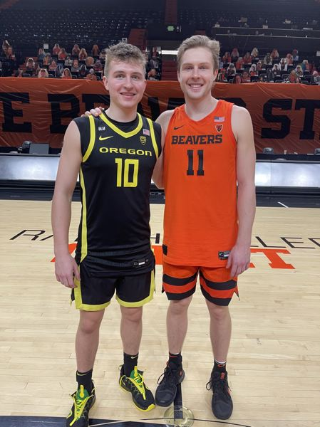 COURTESY PHOTO - Brothers and Wilsonville High School graduates Gabe Reichle (left) and Zach Reichle both made it to at least the Sweet 16 of the NCAA tournament for their respective college teams.