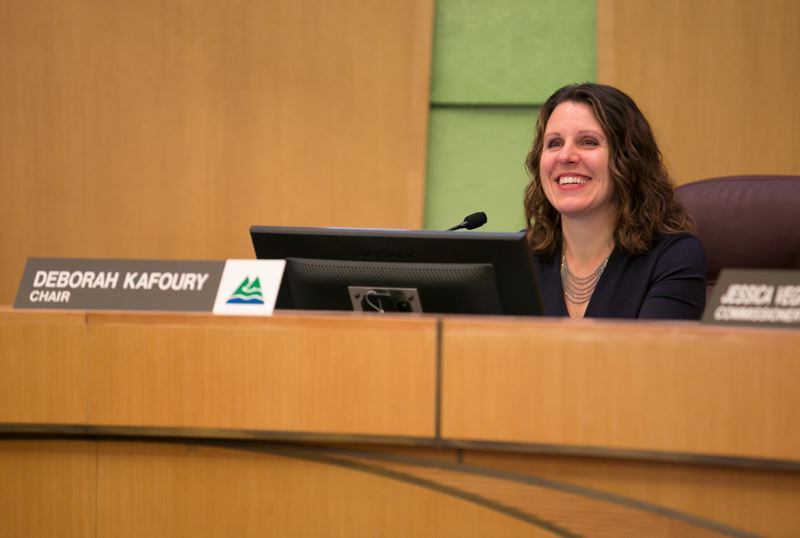 COURTESY PHOTO: MOTOYA NAKAMURA - Multnomah County Chair Deborah Kafoury led a commission meeting in 2018.