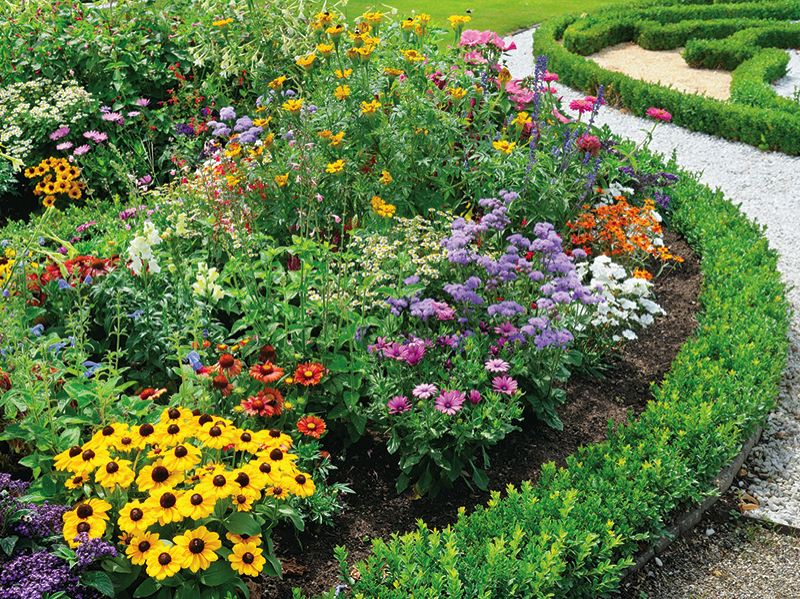 With spring finally here, residents of Tanner Spring enjoy their beautiful flower gardens.