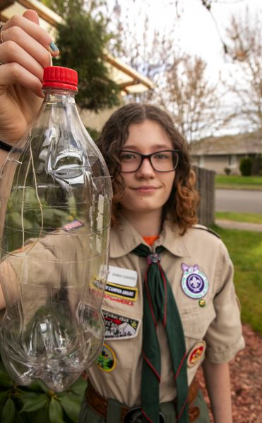 PMG PHOTO: JAIME VALDEZ - Emma Eakins project building traps for 'murder hornets' (Asian giant hornets) earned her the Earth Day Scholarship from the National Society of High School Scholars Foundation.