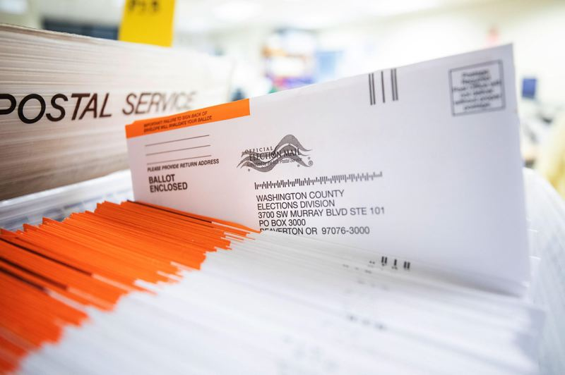 PMG FILE PHOTO - Washington County election officials prepared for late ballots ahead of the November 2020 elections. Harsh partisan battles have eroded many Oregonians' faith in the political process, a survey finds.