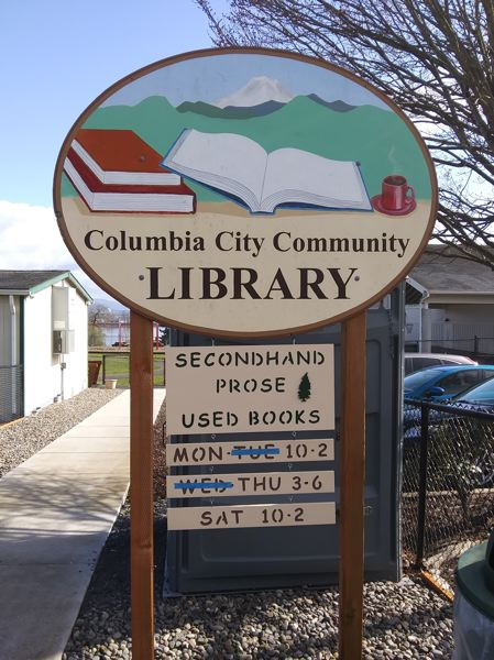 COURTESY PHOTO - Used book sales benefit the Columbia City Community Library, which serves all of Columbia County from its location at 2000 Second St., Columbia City.