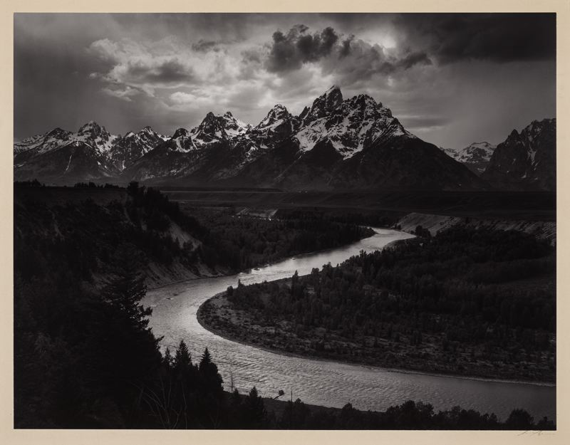 COURTESY PHOTO: PORTLAND ART MUSEUM - The 'Ansel Adams in Our Time' exhibit opens at Portland Art Museum on Wednesday, April 28. It includes many works by Adams, including 'The Tetons and Snake River, Grand Teton National Park, Wyoming (1942),' as well as works by other artists.