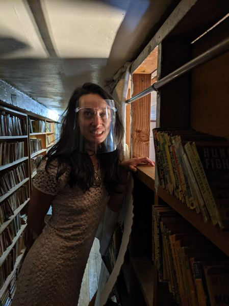 PAMPLIN MEDIA GROUP: JOSEPH GALLIVAN - Cameron's Books co-owner Crystal Zingsheim knows where everything is in the stacks, even though there is no computerized inventory. The store will close Saturday April 24 at the end of the day, whenever people leave.