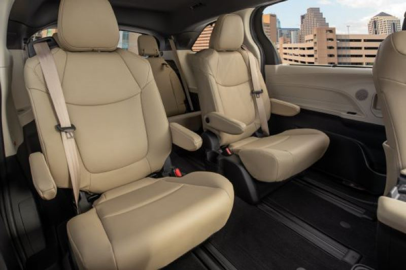 COURTESY TOYOTA - Optional captails chairs in the second row make it easier to reach the third row of seats.