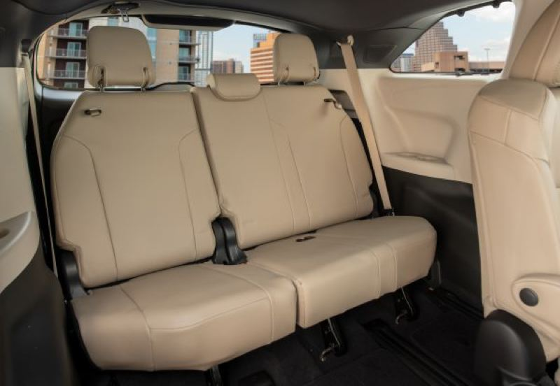 COURTESY TOYOTA - The third row of seats in the 2021 Toyota Sienna is surprisingly roomy.