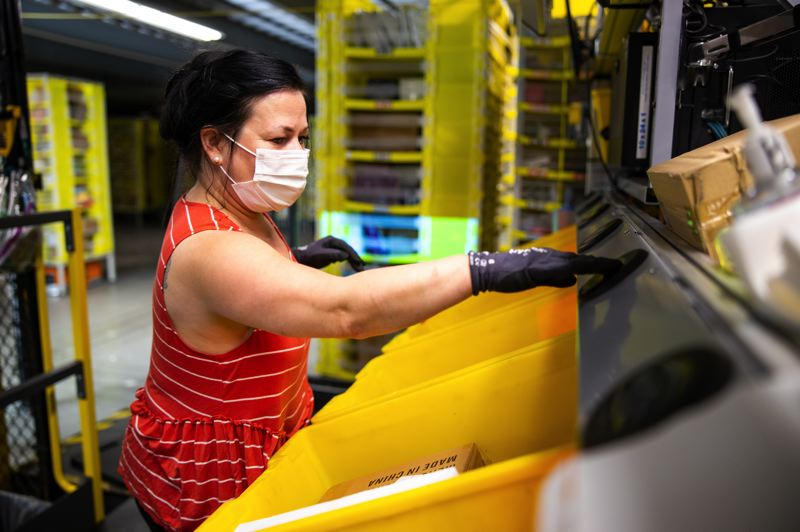 COURTESY PHOTO: AMAZON - Amazons Troutdale facility has had the highest number of COVID cases of any commercial employer in the state and will offer employees vaccinatons onsite starting this week.