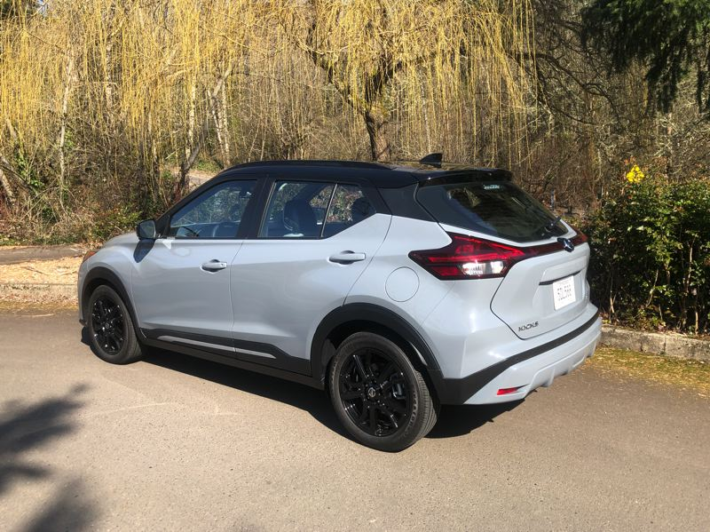 PMG PHOTO: JEFF ZURSCHMEIDE - Although the 2021 Nissan Kicks is only available with front-wheel-drive, with modern stability and traction control systems, buyers aren't missing out on much capability compared to all-wheel-drive.