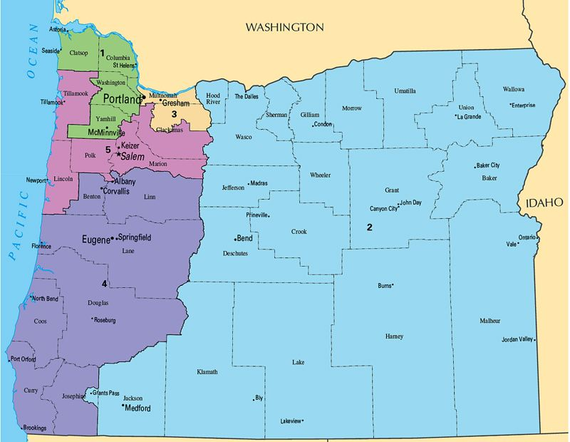 COURTESY PHOTO: U.S. DEPARTMENT OF THE INTERIOR - Oregon could get a sixth congressional district under new U.S. Census numbers released Monday, April 26.