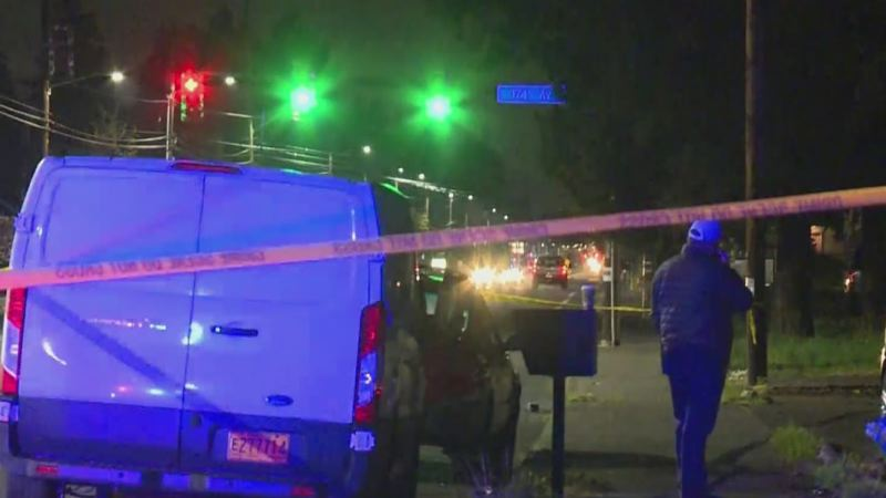 COURTESY KOIN 6 NEWS - The scene of the Monday night shooting in Gresham.