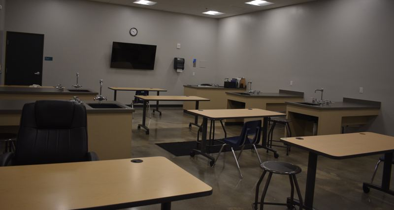 PMG PHOTO: TERESA CARSON - This room is used for science and art classes and club meetings.