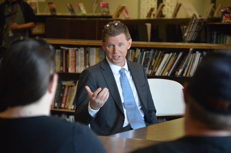 PMG FILE PHOTO - Tim Porter, superintendent of the Scappoose School District (pictured in 2019), confirmed a Scappoose High School student has contracted COVID-19, prompting 19 others to quarantine under contact tracing protocols.