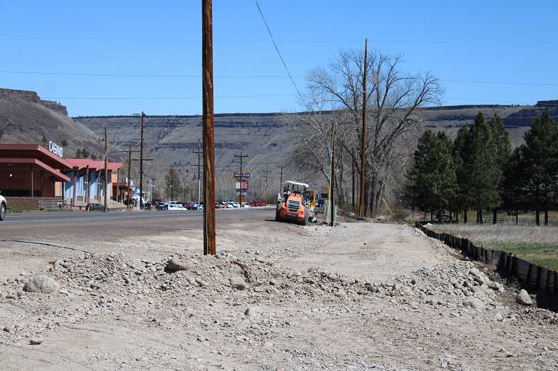 PAT KRUIS/MADRAS PIONEER   - A walkway between the Kah-Nee-Ta junction and the Museum at Warm Springs will be a main feature of the ODOT project where Highway 26 passes through the reservation.