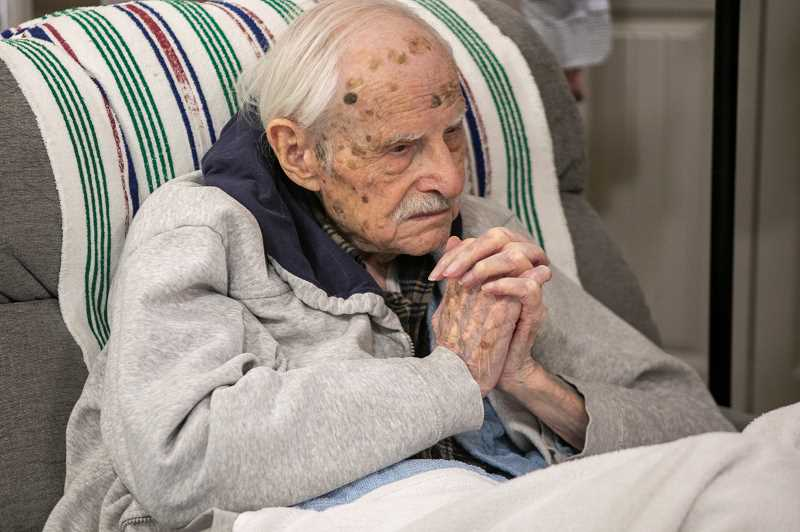 PMG PHOTO: JAIME VALDEZ - Lionel Domreis celebrated his 102nd birthday Friday. Domreis was responsible for helping get both the King City and Summerfield communities off the ground.