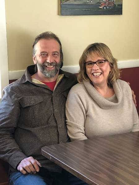 PMG PHOTO: CINDY FAMA - The new owners of the historic Colton Cafe, Mark and Nora Nofziger.