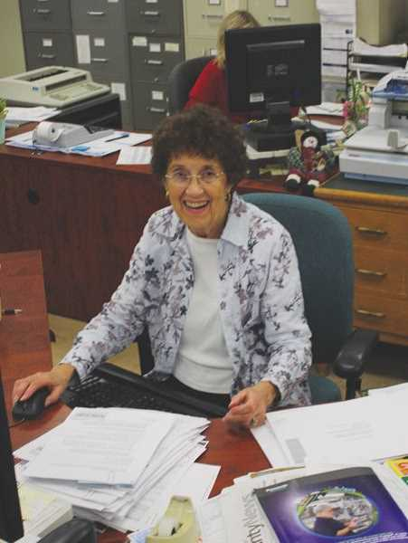 PMG FILE PHOTO - Betty Huser sits at her desk as county clerk.