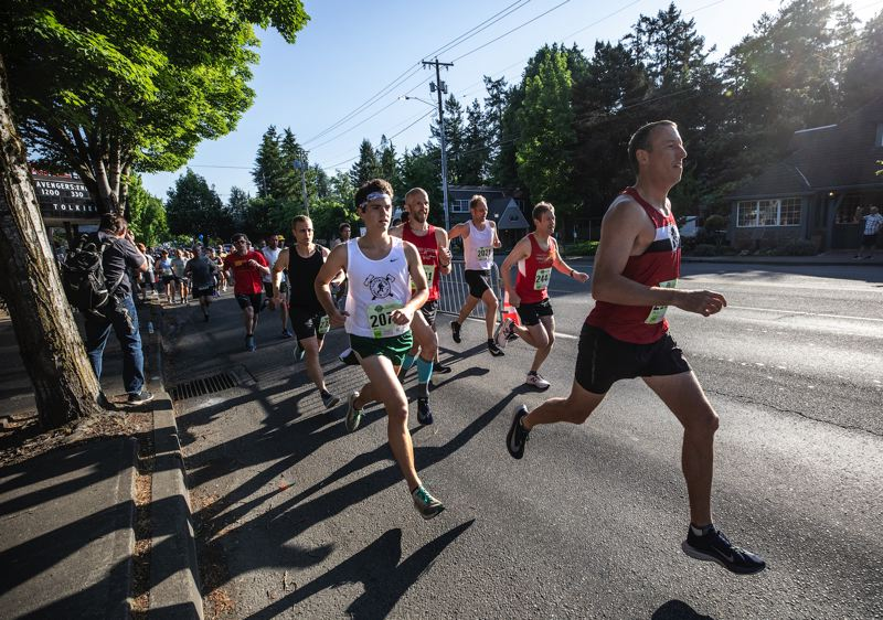 PMG FILE PHOTOS - Runners pace themselves during the 2019 Lake Run. The run was canceled last year, and this year it will be held virtually.