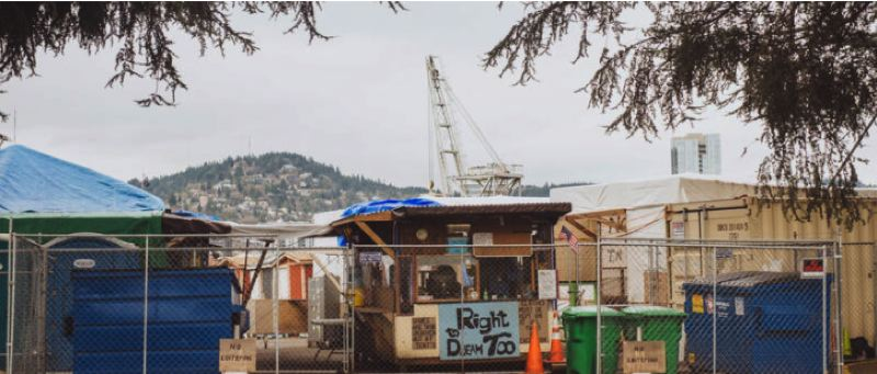 COURTESY PHOTO: CITY OF PORTLAND - Right 2 Dream Too is an example of the emergecny housing that can now be more easily sited in Portland.