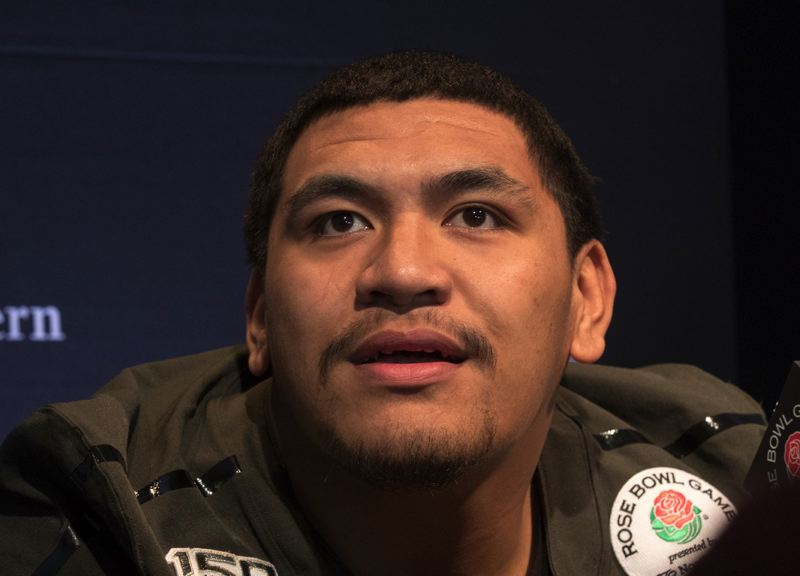 PMG FILE PHOTO: JAIME VALDEZ - Former Oregon left tackle Penei Sewell was selected by the Detroit Lions with the No. 7 pick in the 2021 NFL Draft.