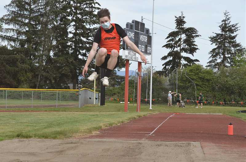 COURTESY PHOTO - The Molalla boy's and girl's track teams won both ends of a three-way meet at home Wednesday afternoon.