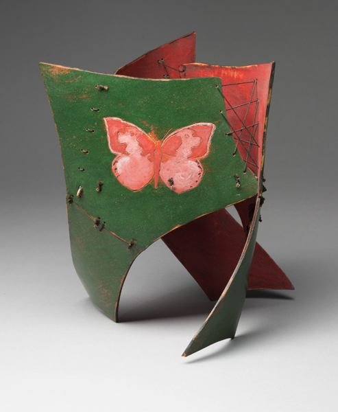 COURTESY PHOTO - Michael de Forest's 'Butterfly: Metamorphosis, carefree, transformer' is laminated wood veneer and milk paint. It's part of his exhibit at Waterstone Gallery.