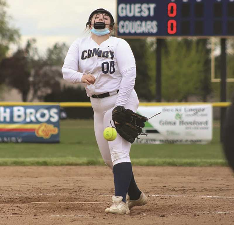 COURTESY PHOTO: SARAH OLIVER - Canby continues its shortened season with hopes that the pitching and hitting are coming together when it counts.