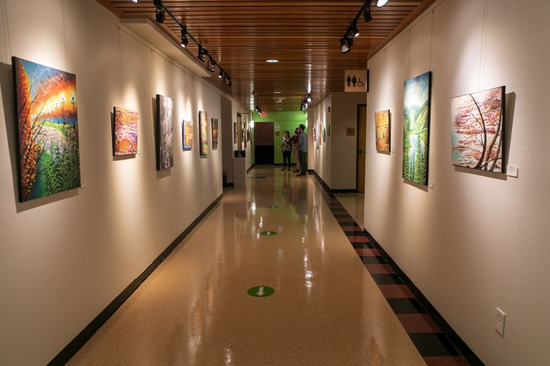 PMG PHOTO: JAIME VALDEZ - The 'Intuitive Perspectives' exhibit by Carole Zenny marks the first at the Glenn & Viola Walters Cultural Arts Center since the pandemic began.