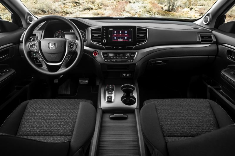 HONDA AMERICA MOTOR CO. - The interior of the 2021 Honda Ridgeline is more spacious than other midsize pickups.