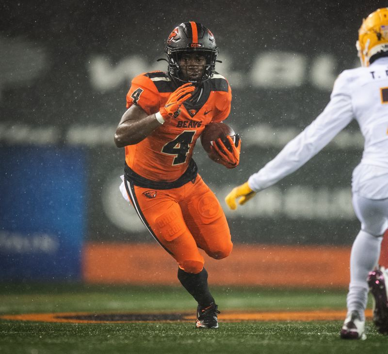 COURTESY PHOTO: KARL MAASDAM/OSU ATHLETICS - B.J. Baylor and others are working to replace Jermar Jefferson as Oregon State starting running back.